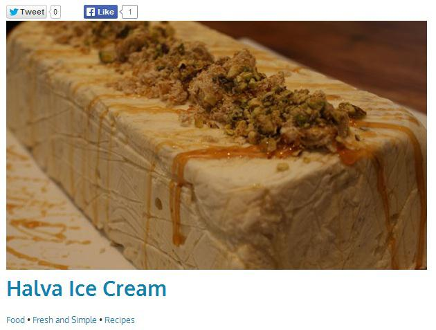 Ice Cream Online - A Tasteful Halva Ice Cream Recipe Worth ...