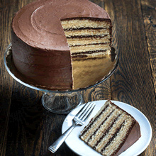 Chocolate Peanut Butter Smith Island Cake (Larger)