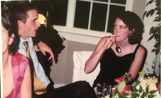 Brian and Joy at a Rehearsal Dinner in 2003