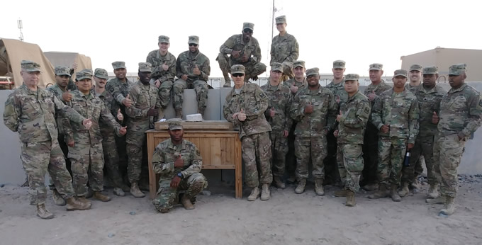 treats for troops group shot